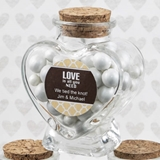 FashionCraft Personalized Expressions Heart-Shaped Glass Jar