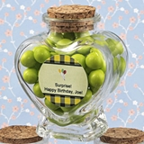 Personalized Expressions Collection Heart-Shaped Glass Jar (Birthday)