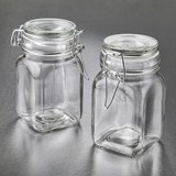 Perfectly Plain Collection Large Glass Apothecary Jar with Hinged Top