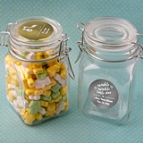 Personalized Metallics Collection Large Apothecary Jar (Baby Shower)