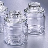 FashionCraft Perfectly Plain Collection Mini Glass Cookie Jar with Lid