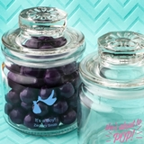 Screen-Printed Personalized Baby Shower Designs Mini Glass Cookie Jar