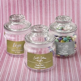 Personalized Metallics Collection Glass Cookie Jar with Sealed Cover