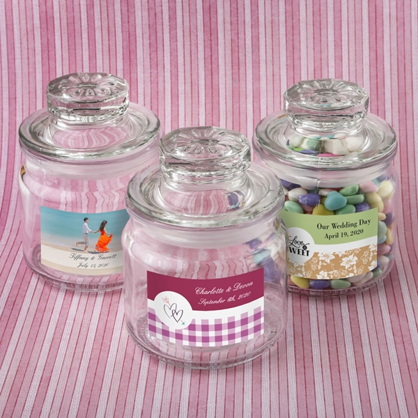 FashionCraft Personalized Expressions Glass Cookie Jar & Cap (Wedding)