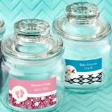 Personalized Expressions Collection Glass Cookie Jar (Baby Shower)