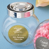Personalized Metallics Collection Large Glass Candy Jar (Celebrations)