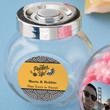 Personalized Expressions Collection Large Glass Candy Jar
