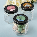 Personalized Expressions Baby Shower Small Hex Jar with Black Screwtop