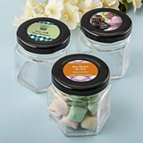 Personalized Expressions Small Hex Jar with Black Screwtop (Birthday)