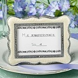 FashionCraft Victorian Design Frame/Place Card Holder w/ Inlaid Enamel