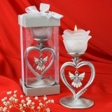 FashionCraft Brilliant Angel in a Heart Candle Holder