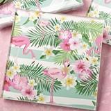 FashionCraft Tropical Chic Flamingo Design Glass Coasters (Set of 2)