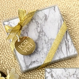FashionCraft Stylish Marble Design Glass Coasters (Set of 2)