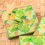 FashionCraft Tropical Pineapple-Themed Glass Coasters (Set of 2)