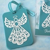 FashionCraft Turquoise Angel Design Rubber Luggage Tag