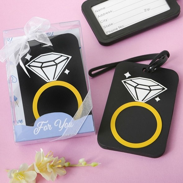 FashionCraft Diamond Ring Rubber Luggage Tag