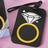 FashionCraft Diamond Ring Rubber Luggage Tag