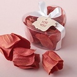 FashionCraft Red Delicate Rose Soap in Clear Heart-Shaped Container
