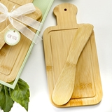 FashionCraft Bamboo-Wood Cheese Board and Spreader in Gift-Box