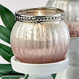 FashionCraft Pink Ombre Vintage-Look Mercury Glass Tealight Holder