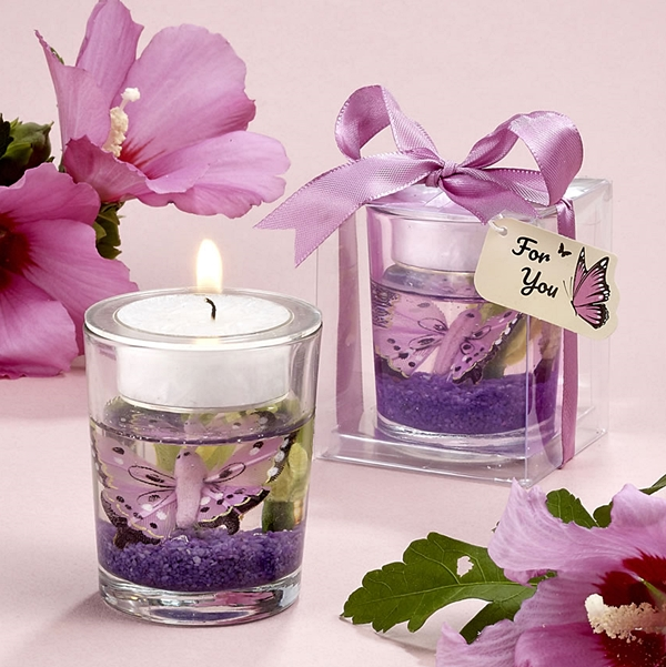 FashionCraft Beautiful Butterfly Gel Candle Holder Favor
