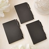 FashionCraft 'Perfectly Plain' Black Hard-Molded Plastic Notebook