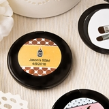 Expressions Collection Personalized Black Compact Mirror (Baby Shower)
