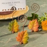 FashionCraft Leaf Design Place Card Holder