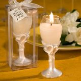 FashionCraft Double Heart Design Champagne Flute Candle Holder