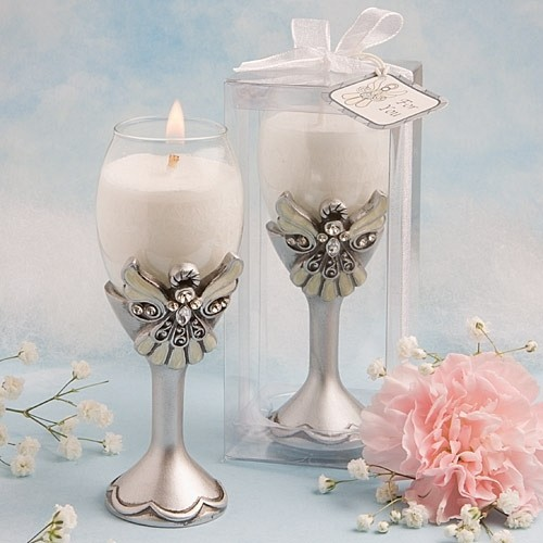 FashionCraft Angel Design Champagne Flute Candle Holder