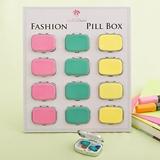 FashionCraft Stylish Fun Vibrant Colored Pill Boxes (Set of 12)