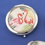 FashionCraft Flamingo Compact Mirrors (3 Assorted Designs; Set of 18)