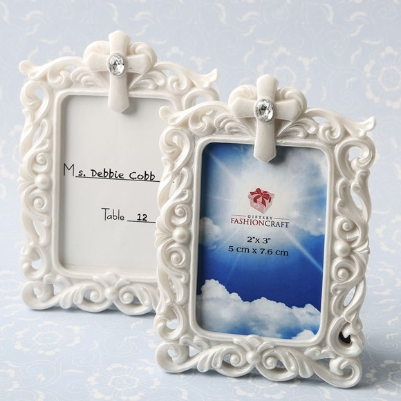 FashionCraft Baroque Style Openwork White Frame with Cross Detail ...
