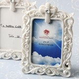 FashionCraft Baroque Style Openwork White Frame with Cross Detail
