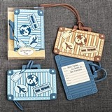 FashionCraft Vintage Suitcase Design Luggage Tags (2 Colors/Set of 24)