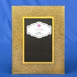 FashionCraft Gold Glitter 4x6 Frame with Wide Beveled Borders