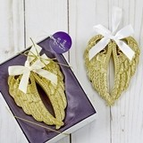 FashionCraft Soft-Gold-Finish Angel Wings Ornament