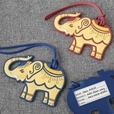 FashionCraft Rubber Elephant Luggage Tags (2 Colors) (Set of 24)