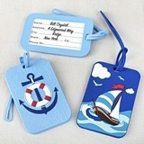 FashionCraft Rubber Nautical-Themed Luggage Tags (2 Designs/Set of 24)