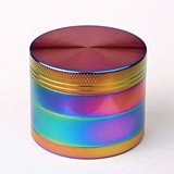 Herb Grinder with Sparkling Rainbow Colors