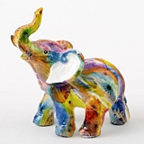 FashionCraft Mini-Size Unique Colorful Tie-Dye Elephant Figurine