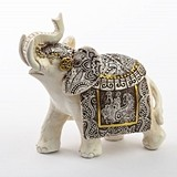 FashionCraft Medium-Size Ivory with Sepia Accents Elephant Figurine