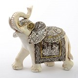 FashionCraft Large-Size Ivory with Sepia Accents Elephant Figurine