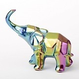 FashionCraft Large-Size Iridescent Ceramic Elephant Figurine