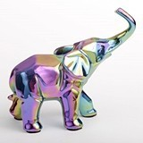 FashionCraft Medium-Size Iridescent Ceramic Elephant Figurine