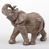FashionCraft Medium-Size 'Mocha Blends' Geometric Design Elephant