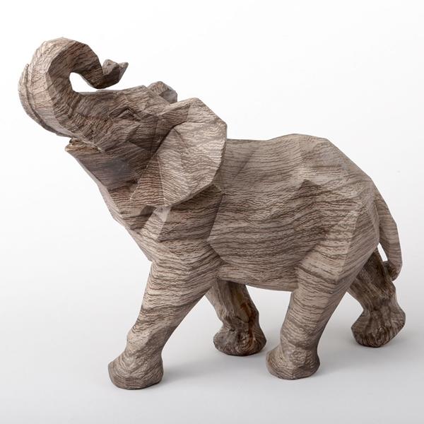 FashionCraft Jumbo-Size 'Mocha Blends' Geometric Design Elephant