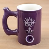 Premium 'Roast & Toast' Plum Ceramic Mug from Gifts by FashionCraft