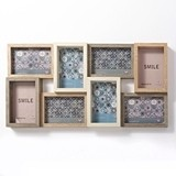 FashionCraft MDF-Wood Puzzle Collage Frame with 8 Openings