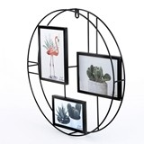 FashionCraft Round Metal-Wire Collage Frame with 3 Openings